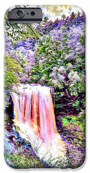 Young iPhone Cases - Fantasy Falls iPhone Case by John Haldane