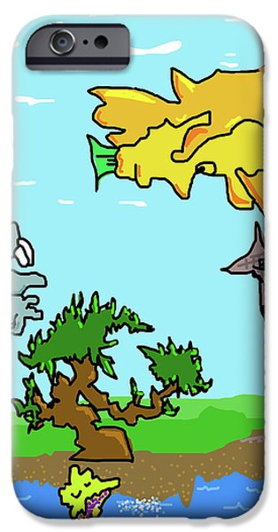 Wonderous iPhone Cases - Fantasy Land iPhone Case by Jera Sky