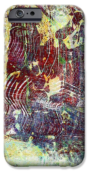 Abstract Digital Mixed Media iPhone Cases - Fantasy Ship iPhone Case by Laura L Leatherwood