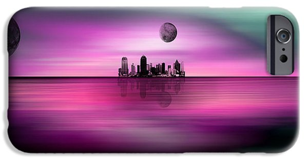 Celebrities Art iPhone Cases - Far Away Dream Scapes Very Large Prints Possible 108 Inches iPhone Case by Sir Josef  Putsche