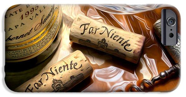 Wine Bottles iPhone Cases - Far Niente Uncorked iPhone Case by Jon Neidert
