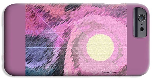 Abstract Expressionism iPhone Cases - Far Out iPhone Case by Lenore Senior