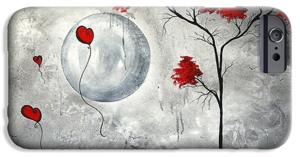 Contemporary Abstract iPhone Cases - Far Side of the Moon by MADART iPhone Case by Megan Duncanson