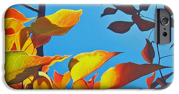 Pear Tree Paintings iPhone Cases - Farewell To Summer iPhone Case by Hunter Jay
