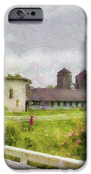 Farm - Barn - Farming is hard work iPhone Case by Mike Savad