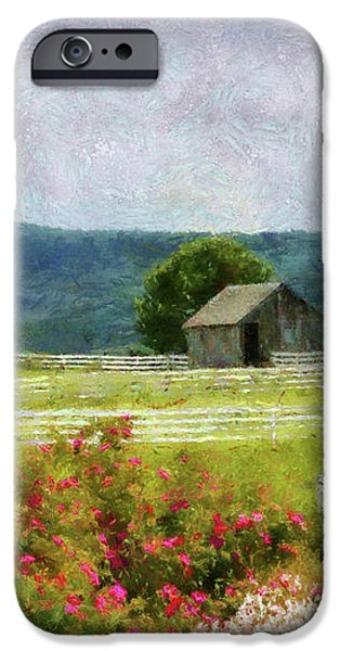 Farm - Barn - Out in the country  iPhone Case by Mike Savad