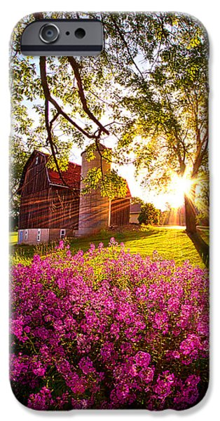 Meadow Photographs iPhone Cases - Farm Fresh iPhone Case by Phil Koch
