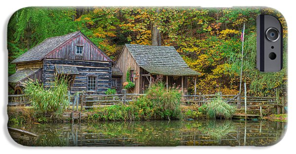 Bucks County iPhone Cases - Farm in Woods iPhone Case by William Jobes