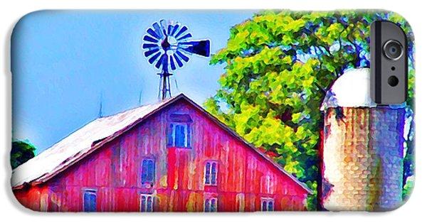 Gettysburg Digital iPhone Cases - Farm near Gettysburg iPhone Case by Bill Cannon