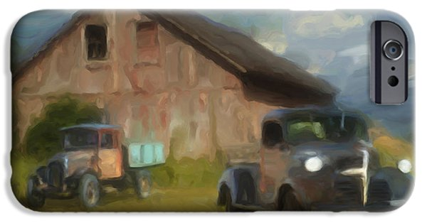 Vintage Painter iPhone Cases - Farm Scene iPhone Case by Jack Zulli