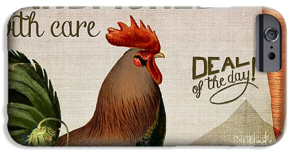 Organic Foods iPhone Cases - Farm to Table iPhone Case by Mindy Sommers