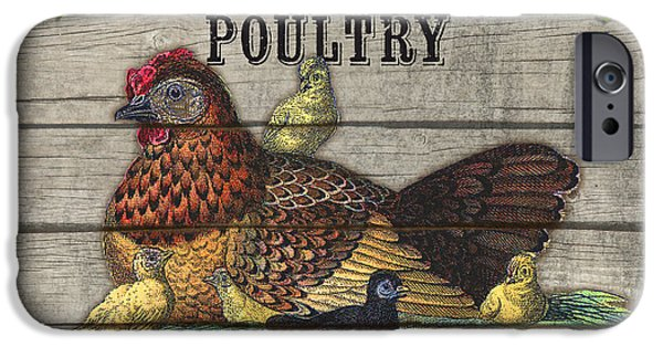 Locally Grown iPhone Cases - Farm to Table Poultry-JP2630 iPhone Case by Jean Plout