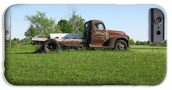 Old Cars iPhone Cases - Farm Truck iPhone Case by Cindy Kellogg