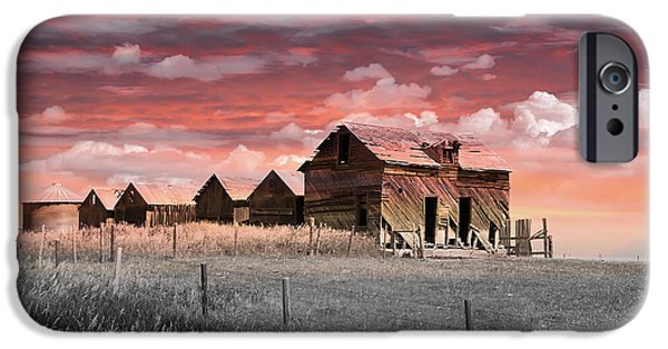 Buildings iPhone Cases - Farmers Delight iPhone Case by Vickie Emms