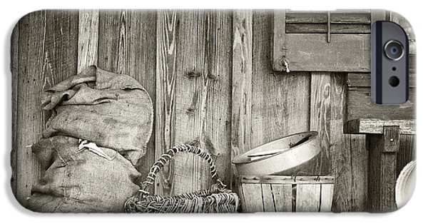 Pioneer Homes iPhone Cases - Farmers Porch iPhone Case by Patrick M Lynch