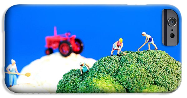 Agriculture Digital iPhone Cases - Farming on broccoli and cauliflower II iPhone Case by Paul Ge
