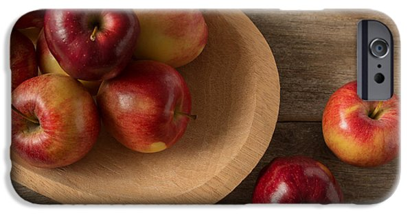Farm iPhone Cases - Farmtable Apples iPhone Case by Ana V  Ramirez