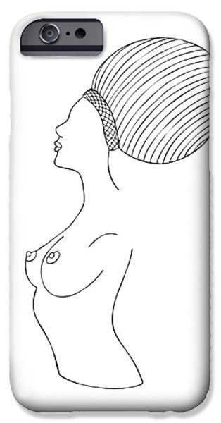 Bathing Drawings iPhone Cases - Fashion drawing iPhone Case by Frank Tschakert