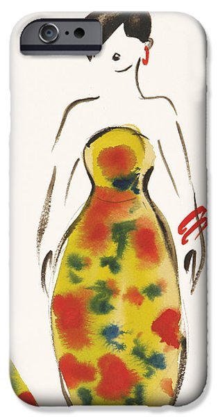 Pastel Drawings iPhone Cases - Fashion IV iPhone Case by Susan Adams