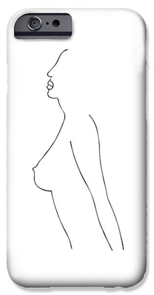 Bathing Drawings iPhone Cases - Fashion sketch iPhone Case by Frank Tschakert