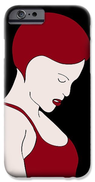 Abstract Fashion Designer Art iPhone Cases - Fashion Wall Art iPhone Case by Frank Tschakert