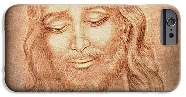 Jesus Drawings iPhone Cases - Father Forgive them  iPhone Case by Ananda Vdovic