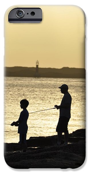 Bonding iPhone Cases - Fathers Day in Port Aransas iPhone Case by Lisa Quenon