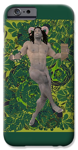 Male Nude Drawing Drawings iPhone Cases - Satyr Dance By Quim Abella iPhone Case by Joaquin Abella