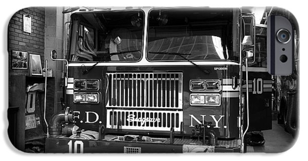 Brave New World iPhone Cases - FDNY Ten mono iPhone Case by John Rizzuto