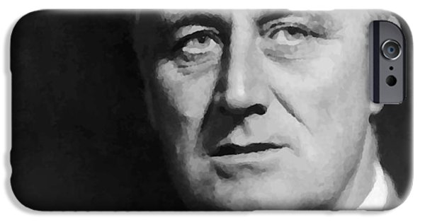 President iPhone Cases - Fdr iPhone Case by War Is Hell Store