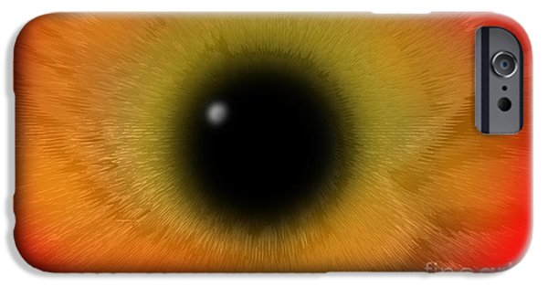 Abstract Digital Photographs iPhone Cases - Feathered Abstract iPhone Case by Sabrina K Wheeler