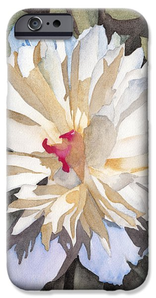 Feathery Flower iPhone Case by Ken Powers