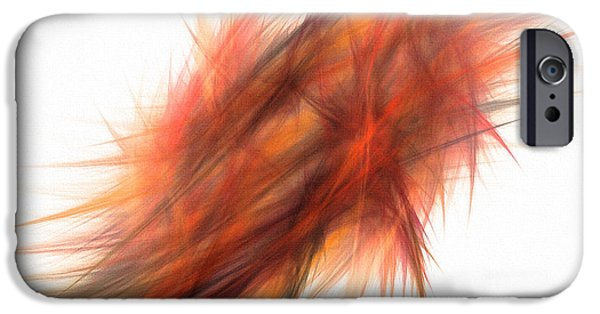 Abstract Digital Photographs iPhone Cases - Feathery iPhone Case by Jan Tyler