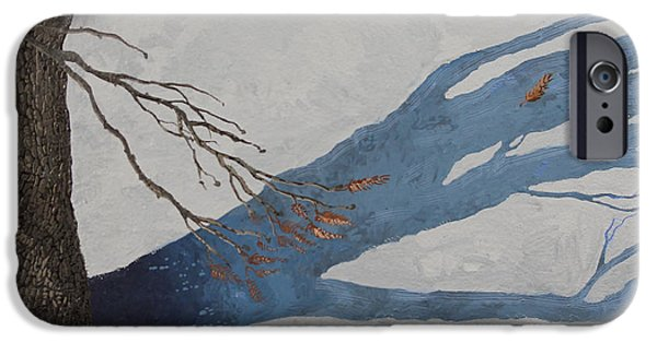 Snowscape Paintings iPhone Cases - February 22nd iPhone Case by J S  Ferguson