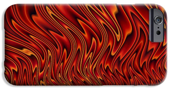 Waves Digital Art iPhone Cases - Feel The Heat iPhone Case by John Edwards