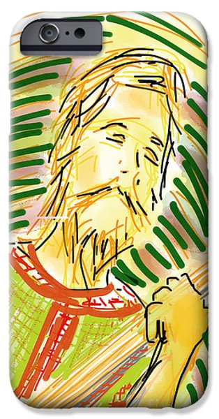 Loose Style Drawings iPhone Cases - Feel the Music iPhone Case by Robert Yaeger