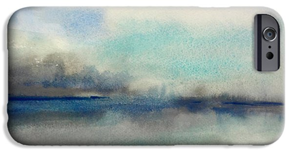 Abstract Seascape iPhone Cases - Feeling Teal 1 iPhone Case by Chris Paschke
