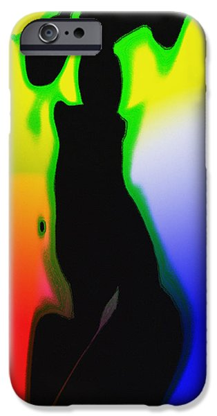Balck Art iPhone Cases - Female in Color One iPhone Case by Stefan Kuhn