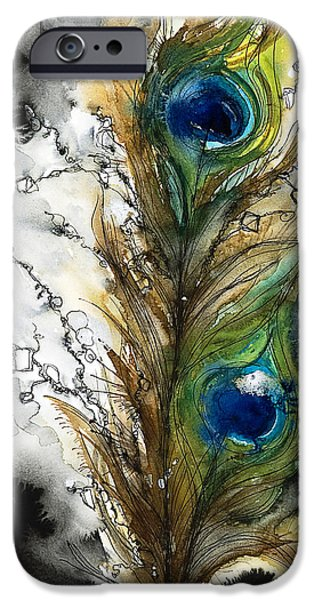 Patterned Paintings iPhone Cases - FeMale iPhone Case by Tara Thelen - Printscapes