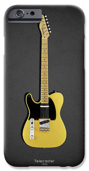 Fenders iPhone Cases - Fender Telecaster 52 iPhone Case by Mark Rogan