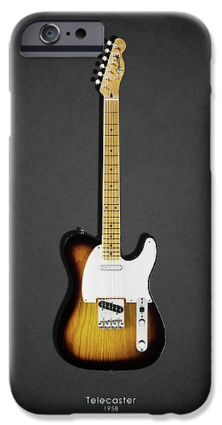 Fenders iPhone Cases - Fender Telecaster 58 iPhone Case by Mark Rogan