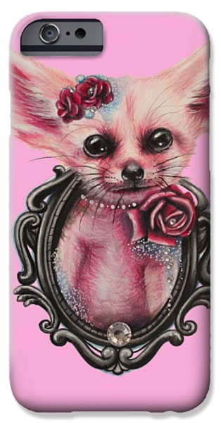 Innocence Mixed Media iPhone Cases - Fennec Fox iPhone Case by Sheena Pike