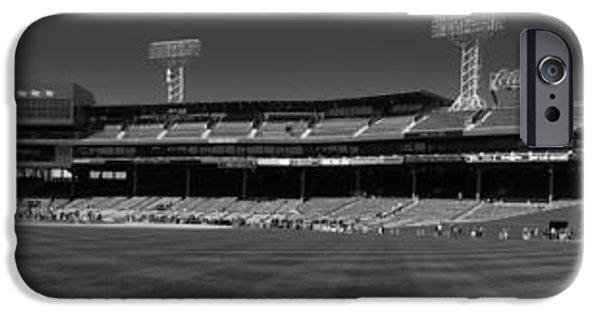 Red Sox iPhone Cases - Fenway Panoramic iPhone Case by Anissia Hedrick