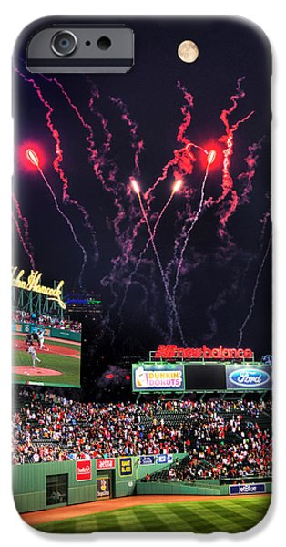 Fenway Park iPhone Cases - Fenway Park Fireworks - Boston iPhone Case by Joann Vitali