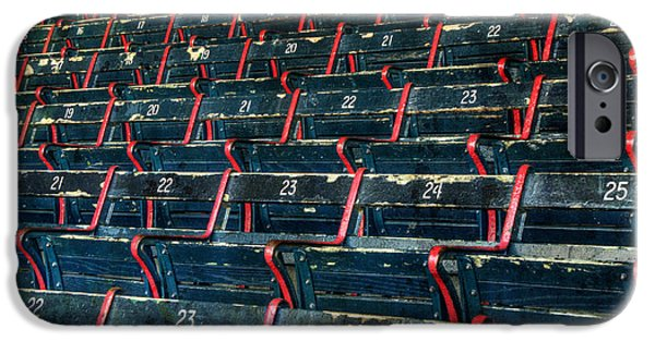 Fenway Park iPhone Cases - Fenway Park Grandstand Seats iPhone Case by Joann Vitali