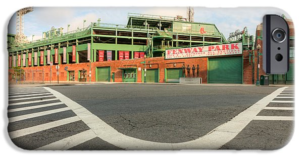 Crosswalk iPhone Cases - Fenway Park III iPhone Case by Clarence Holmes