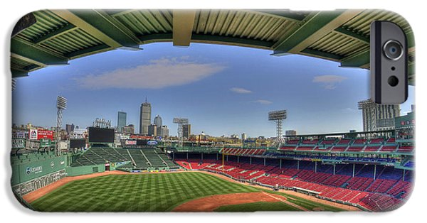 Boston Red Sox iPhone Cases - Fenway Park Interior  iPhone Case by Joann Vitali