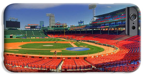 Boston Red Sox iPhone Cases - Fenway Park Interior Panoramic - Boston iPhone Case by Joann Vitali