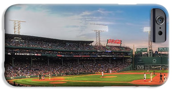 Baseball Stadiums iPhone Cases - Fenway Park Panoramic - Boston iPhone Case by Joann Vitali
