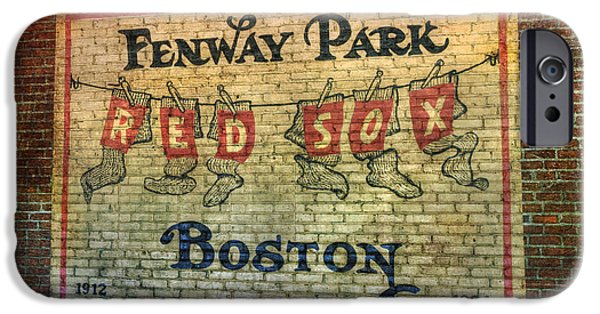 Red Sox iPhone Cases - Fenway Park Sign - Boston iPhone Case by Joann Vitali